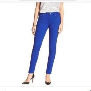 Banana Republic royal blue skinny jeans
